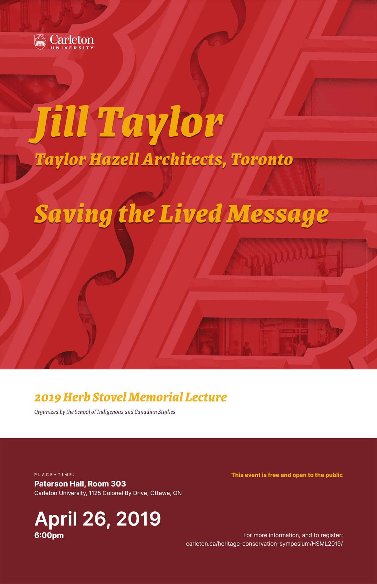 Herb Stovel Memorial Lecture 2019